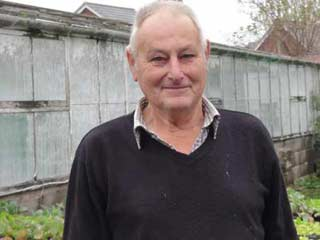 portrait of garden centre owner Ray Minty