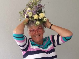 A floral headdress to illustrate floral craft workshops in somerset wiltshire bath and bristol