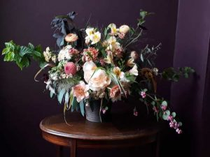 Image of floral craft arrangement to illustrate scent by arrangement workshop