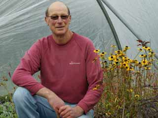 Portrait of Frome plant nursery owner Stephen Dale-Lewis