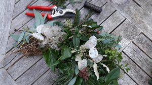 xmas wreath image. Floral workshops in somerset wiltshire bat and bristol