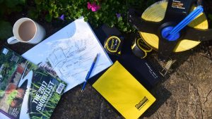 Image of tools for creative garden planning workshop. Garden courses in bath bristol somerset and wiltshire