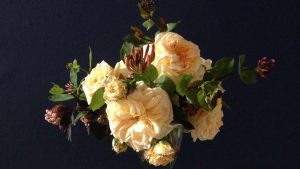 Image of a vase of scented flowers. Floral courses in bath bristol somerset and wiltshire.