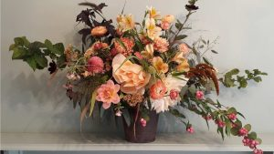 Image of a floral arrangement to illustrate choosing the right vase