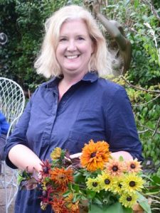 Portrait of Louise Bastow who runs floral craft workshops for the crafty gardeners