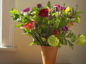 A floral arrangement of plants from the garden. Floral workshops in somerset and wiltshire