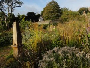 Image of meels walled garden, one of the venues for the crafty gardeners floral and garden workshops