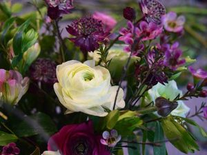 Posy of summer flowers created by student on a course near Bath and Bristol in Somerset and Wiltshire